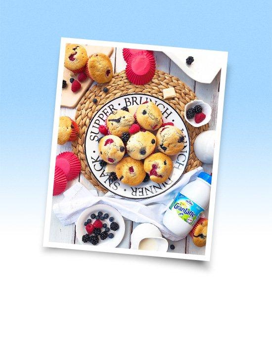 Muffin ai frutti rossi